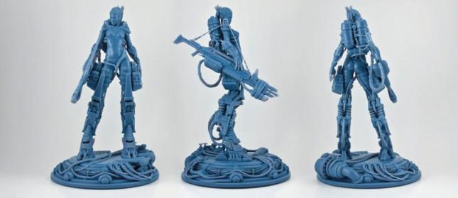 Figurines de Valkyries imprimées en résine. (Source : Bpgda, Gabelko/Moddler)