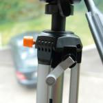 La manivelle de ce trépied de caméra a été imprimée en 3D en alumide. (Source : i.materialise)