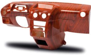 Tableau de bord imprimé en 3D avec finition plaquage bois. (Source : Stratasys-Objet)