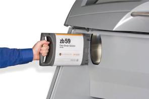 Cartouche de matériau composite prêt à être insérée dans une imprimante 3D ZPrinter de 3D Systems. (Source : 3D Systems)