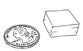Figure 5-2. Un peu plus d'un centimètre cube de filament et cinq à dix minutes de votre temps
