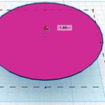 Figure 8-15. Distance de la demi-sphère repositionnée par rapport au plan de travail : 2,20 mm