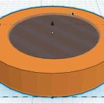 Figure 8-18. Le cylindre après la transformation booléenne de la demi-sphère