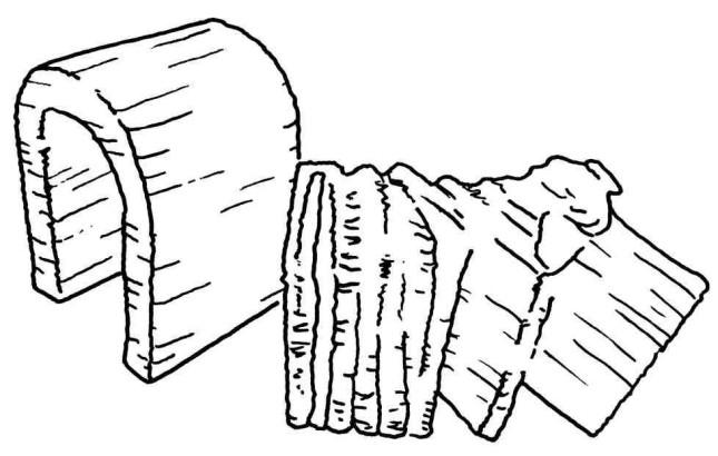 Figure 8-2. Un support retiré d'un objet imprimé