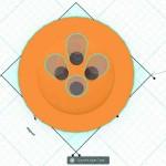 Figure 8-24. Les trous placés au centre du bouton