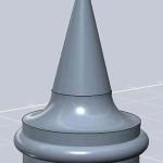 Figure 8-37. Un cône placé sur le pion